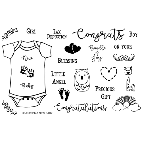 Joy Clair NEW BABY Clear Stamp Set clr02147 Preview Image