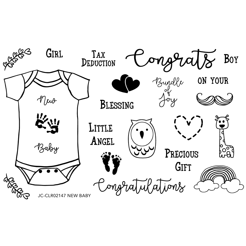 Joy Clair NEW BABY Clear Stamp Set clr02147 zoom image
