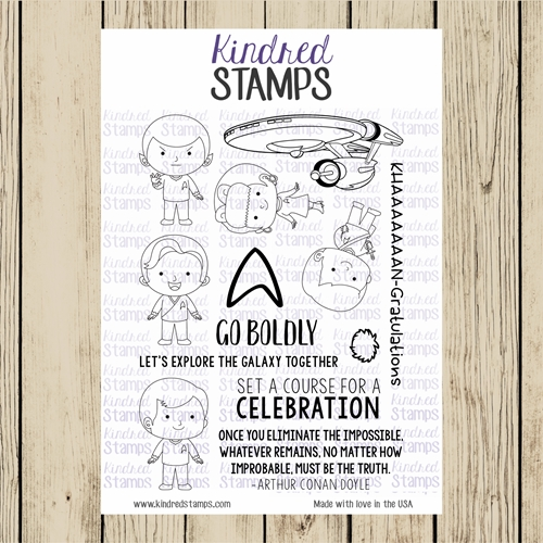 Kindred Stamps SPACE EXPLORERS Clear Stamp Set ks9396 Preview Image