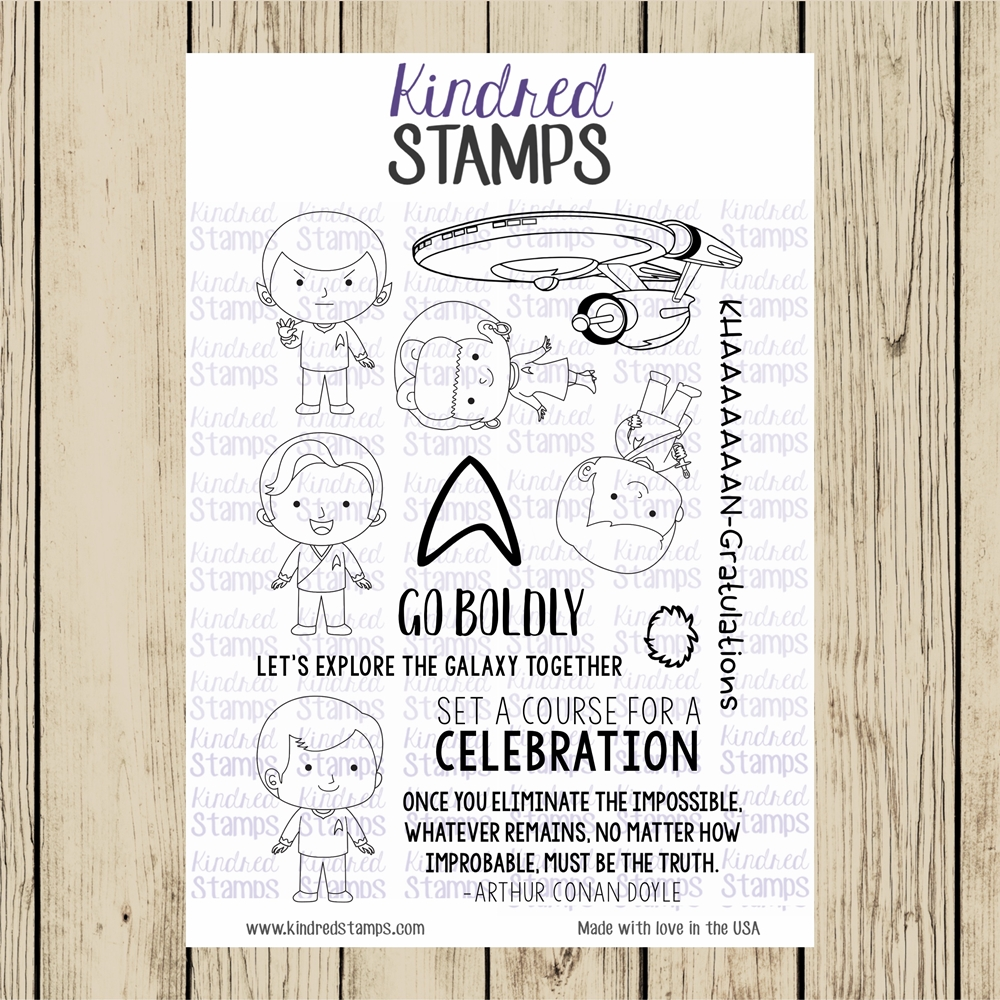 Kindred Stamps SPACE EXPLORERS Clear Stamp Set ks9396 zoom image