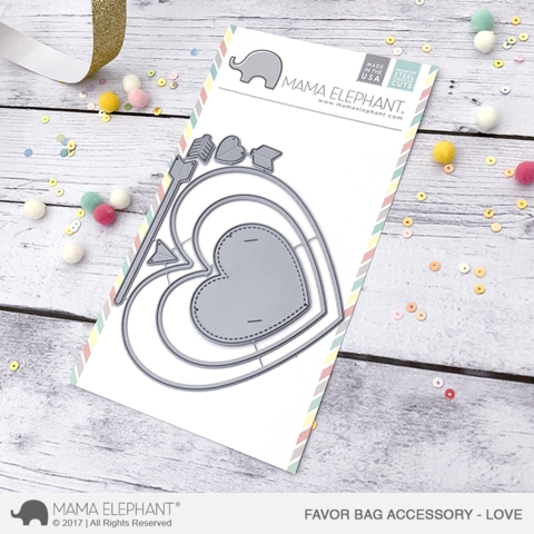 Mama Elephant FAVOR BAG ACCESSORY LOVE Creative Cuts Steel Die Set* Preview Image