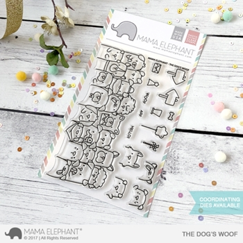 Mama Elephant Clear Stamp THE DOG'S WOOF