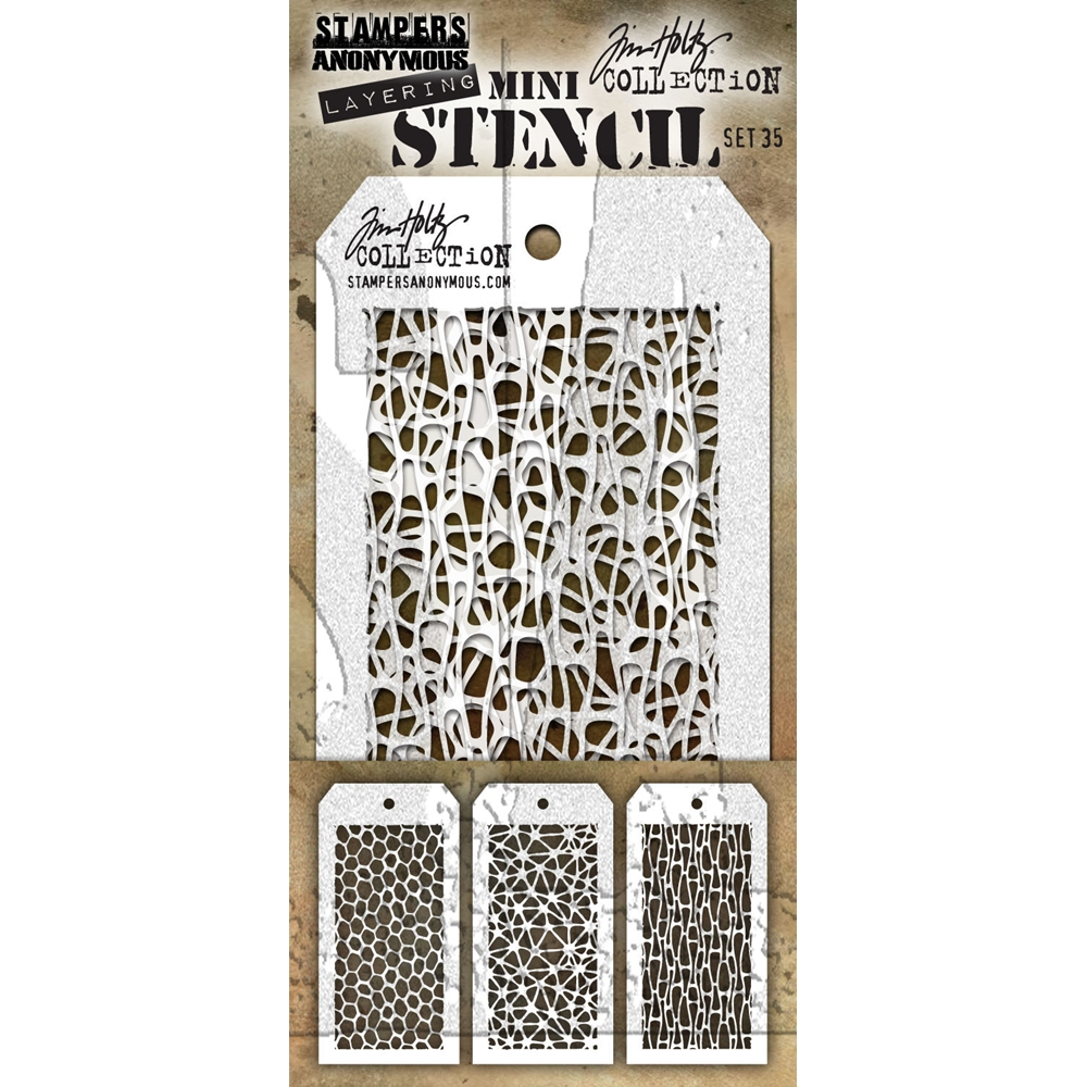 Tim Holtz MINI STENCIL SET 35 MST035 zoom image