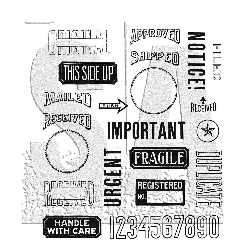 Tim Holtz Cling Rubber Stamps MAIL ART CMS339 zoom image