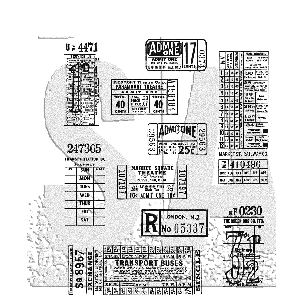 Tim Holtz Cling Rubber Stamps TICKET BOOTH CMS337 zoom image
