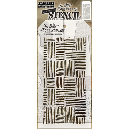 Tim Holtz Layering Stencil THATCHED THS104 Preview Image