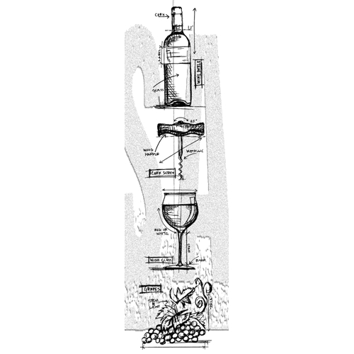 Tim Holtz Mini Blueprints Strip WINE Cling Rubber Stamps THMB028 Preview Image