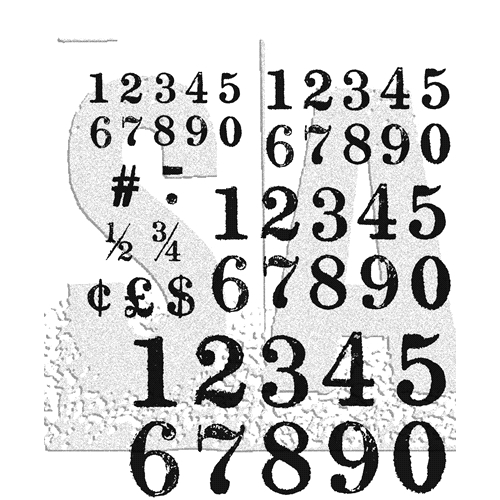 Tim Holtz Cling Rubber Stamps MERCHANT CMS331 Preview Image