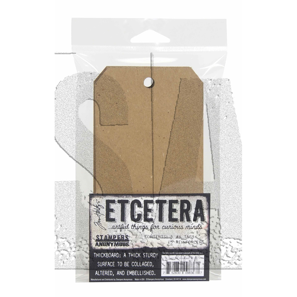 Tim Holtz Etcetera #8 TAG CHIPBOARD ETC005 zoom image
