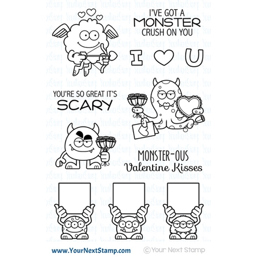 Your Next Stamp SILLY LOVE MONSTERS Clear cyns630* Preview Image