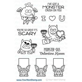 Your Next Stamp SILLY LOVE MONSTERS Clear cyns630*