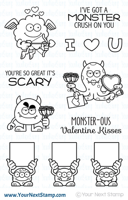 Your Next Stamp SILLY LOVE MONSTERS Clear cyns630* zoom image