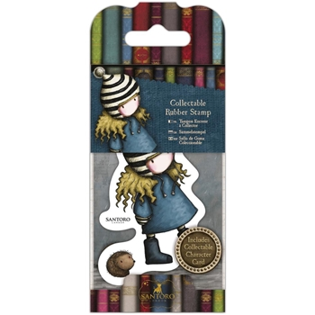 DoCrafts THE FRIENDLY HEDGEHOG Mini Cling Stamp Gorjuss go907415*