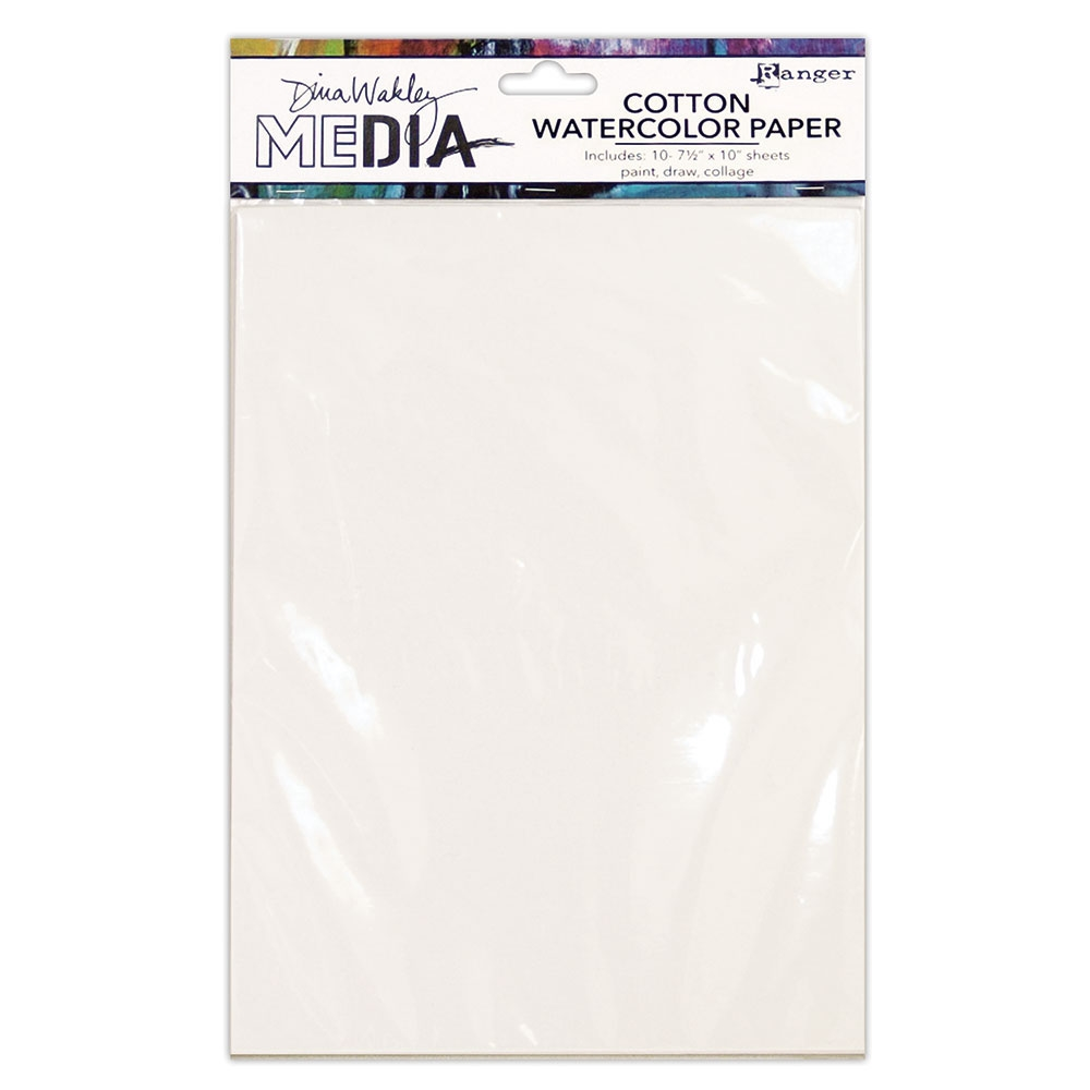 Dina Wakley Ranger COTTON WATERCOLOR PAPER PACK mdj59646 zoom image