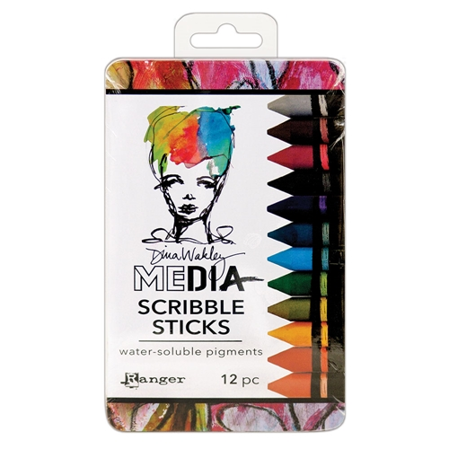 Dina Wakley Ranger SCRIBBLE STICKS 2 Media mda60161 Preview Image