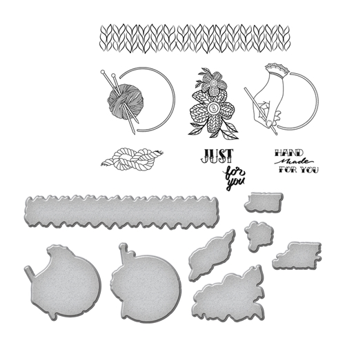 SDS-072 Spellbinders YARN by Stephanie Low Cling Stamp and Die Set* Preview Image
