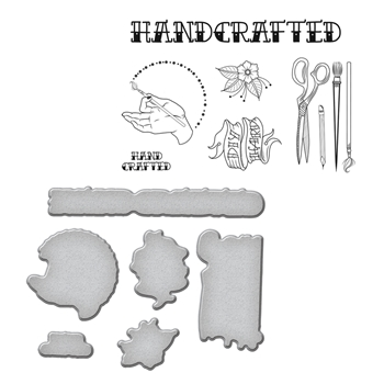 SDS-071 Spellbinders HANDCRAFTED by Stephanie Low Cling Stamp and Die Set*