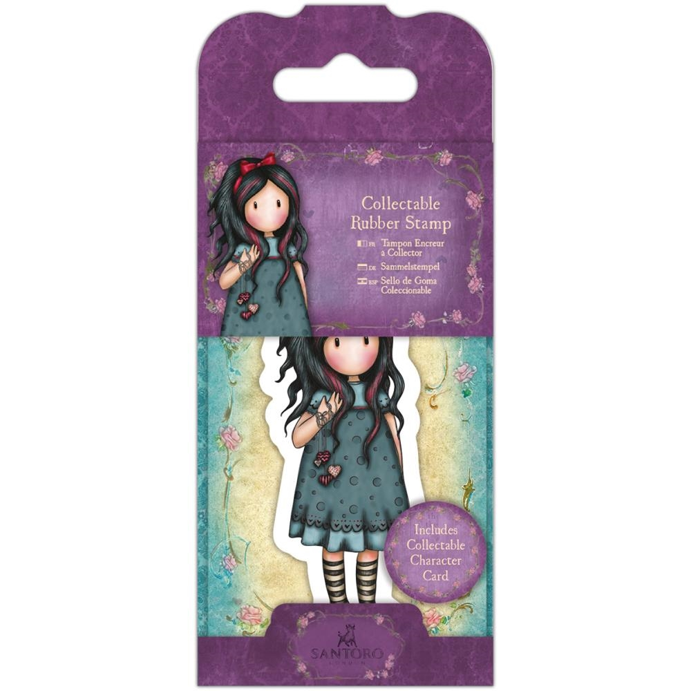 DoCrafts PULLING ON YOUR HEARTSTRINGS Mini Cling Stamp Gorjuss go907402 zoom image