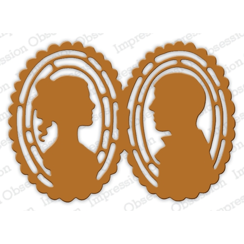Impression Obsession Steel Dies CAMEO LOVERS DIE622-XX* Preview Image