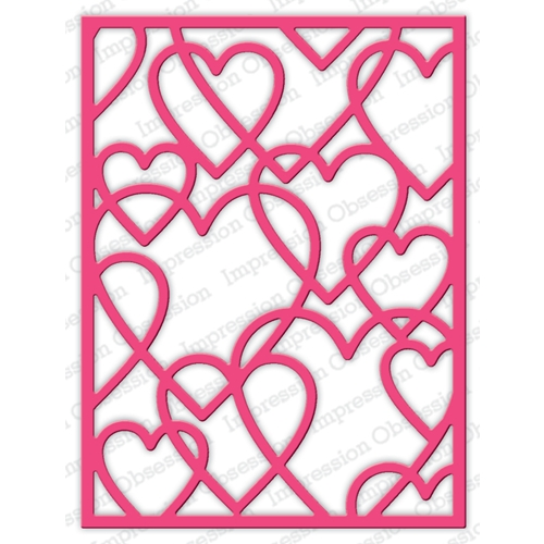 Impression Obsession Steel Dies LAYERED HEART FRAME DIE634-YY Preview Image