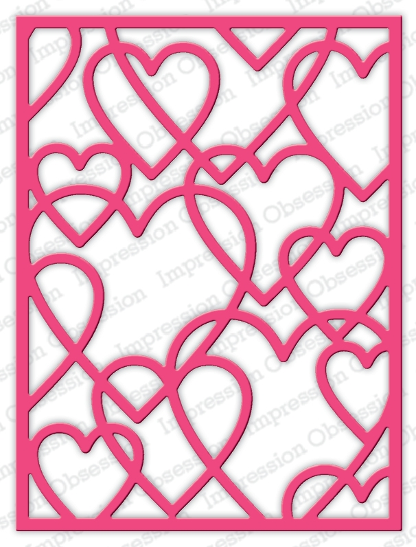 Impression Obsession Steel Dies LAYERED HEART FRAME DIE634-YY zoom image