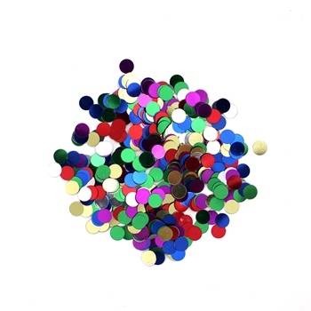 Darice 6mm Dot Shaped ASSORTED COLOR CONFETTI 163030