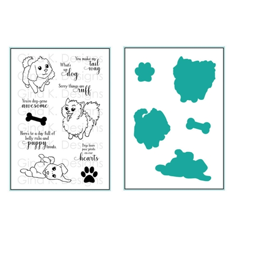 Gina K Designs PLAYFUL PUPS Clear Stamps and Coordinating Dies 5522 Preview Image