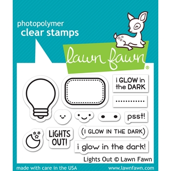 Lawn Fawn LIGHTS OUT Clear Stamps LF1631