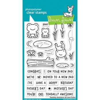 Lawn Fawn TOADALLY AWESOME Clear Stamps LF1581