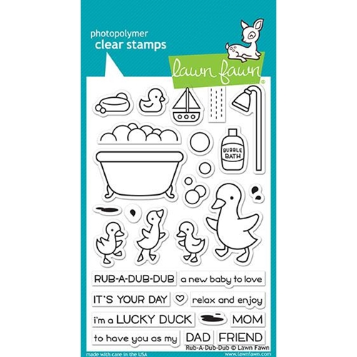 Lawn Fawn RUB-A-DUB-DUB Clear Stamps LF1583 Preview Image