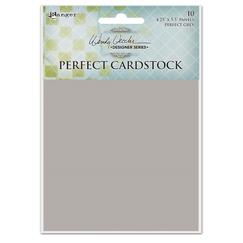 Ranger Wendy Vecchi 4.25 x 5.5 GREY PANELS Perfect Cardstock wva62417 Preview Image