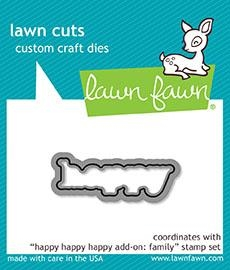 Lawn Fawn HAPPY HAPPY HAPPY ADD-ON FAMILY Lawn Cuts LF1586