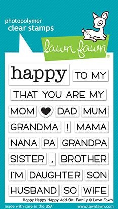 Lawn Fawn HAPPY HAPPY HAPPY ADD-ON FAMILY Clear Stamps LF1585 Preview Image