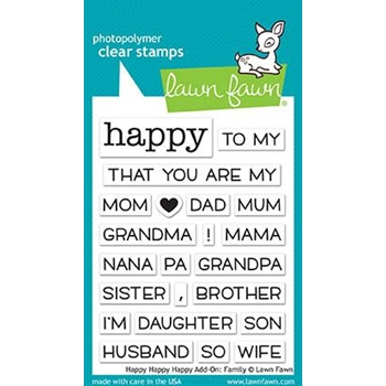 Lawn Fawn HAPPY HAPPY HAPPY ADD-ON FAMILY Clear Stamps LF1585*