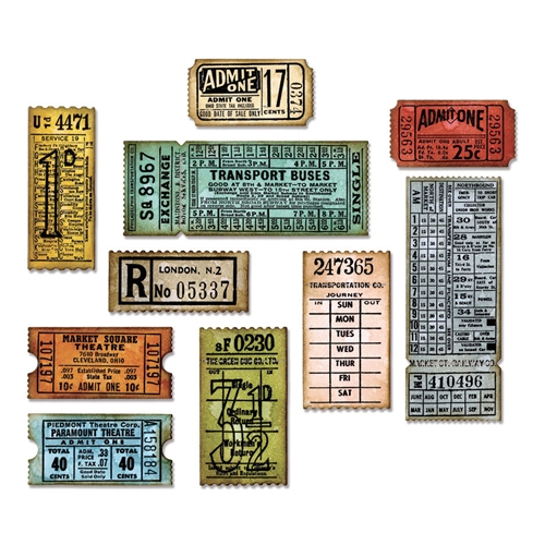 Tim Holtz Sizzix TICKET BOOTH Thinlits Die 662698 Preview Image