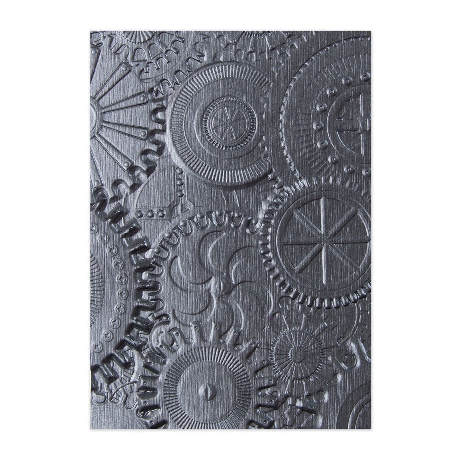 Tim Holtz Sizzix MECHANICS 3D Texture Fades Embossing Folder 662715 zoom image