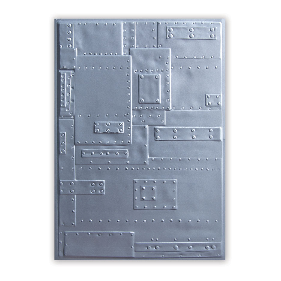 Tim Holtz Sizzix FOUNDRY 3D Embossing Folder 662717 zoom image