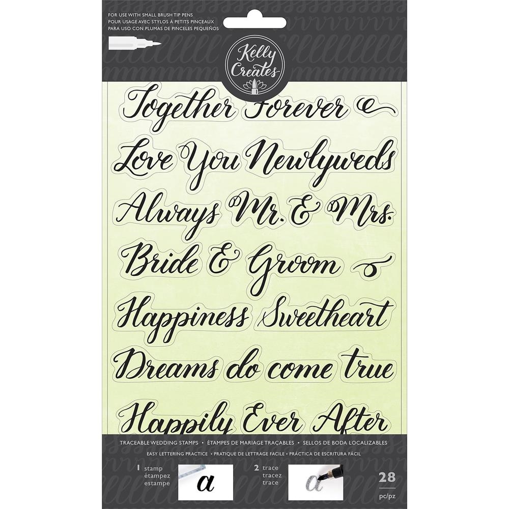 Kelly Creates TRACEABLE WEDDING Clear Stamps 346398 zoom image