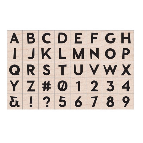 Hero Arts Rubber Stamp MODERN UPPER CASE LETTERS AND NUMBERS LP455* Preview Image