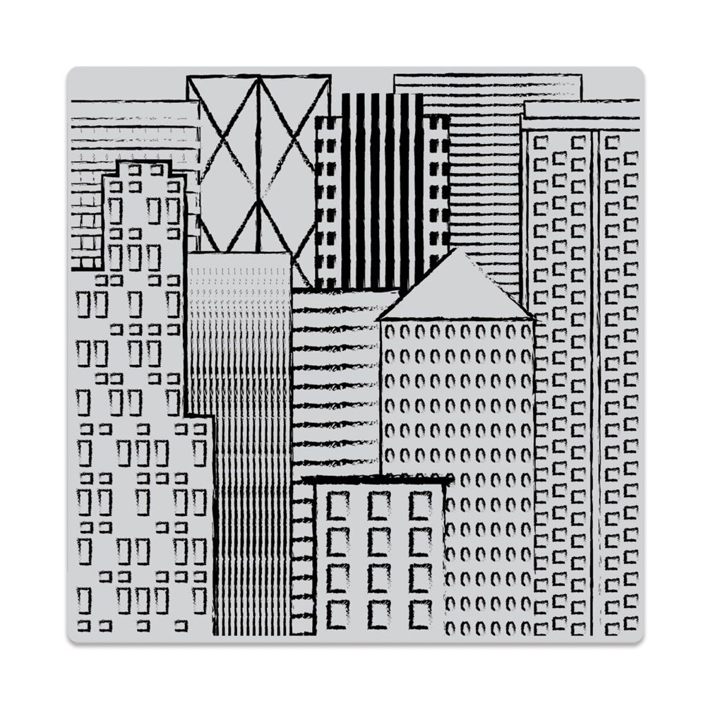 Hero Arts Cling Stamp ABSTRACT SKYLINE Bold Prints CG730 zoom image