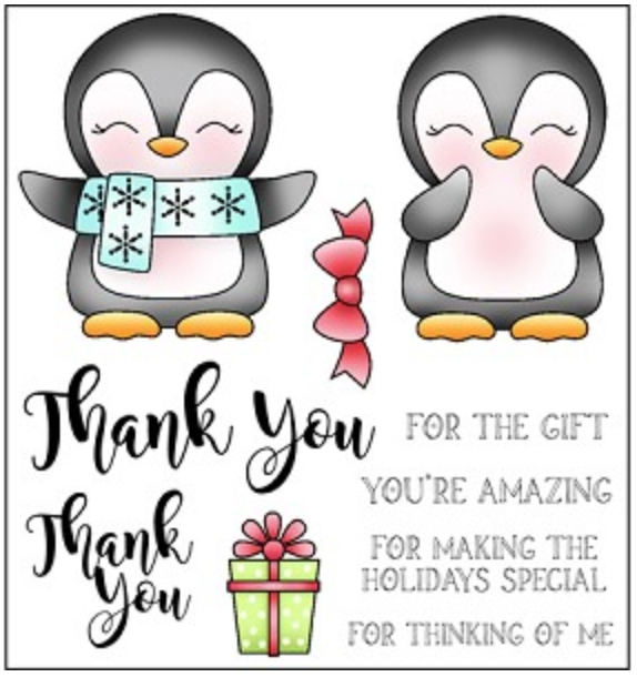 Darcie's THANK YOU Clear Stamp Set pol375 zoom image