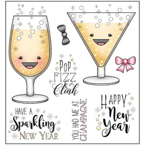 Darcie's POP FIZZ CLINK Clear Stamp Set pol376 Preview Image