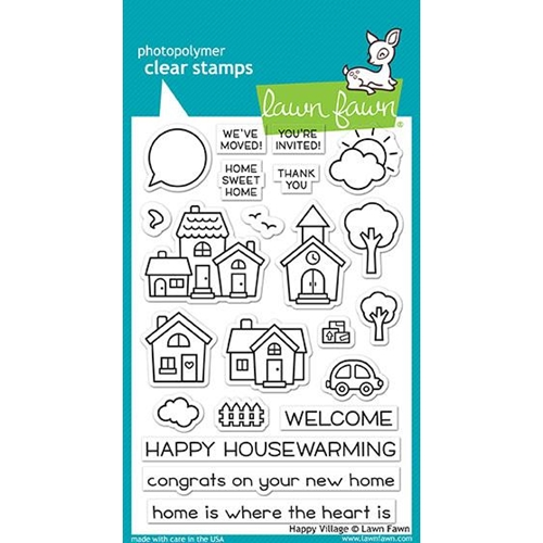 Lawn Fawn HAPPY VILLAGE Clear Stamps LF1591 Preview Image