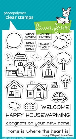 Lawn Fawn HAPPY VILLAGE Clear Stamps LF1591 zoom image