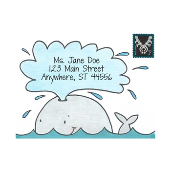 Inky Antics WONDERFUL WHALE Cling Stamp Set Mail Pals icl3-106