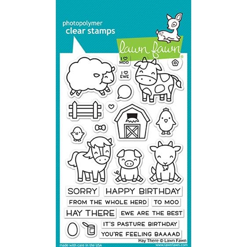 Lawn Fawn HAY THERE Clear Stamps LF1595 Preview Image