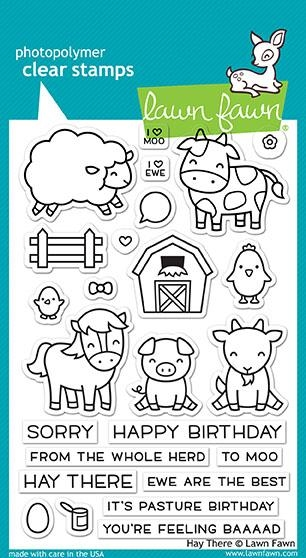 Lawn Fawn HAY THERE Clear Stamps LF1595 zoom image