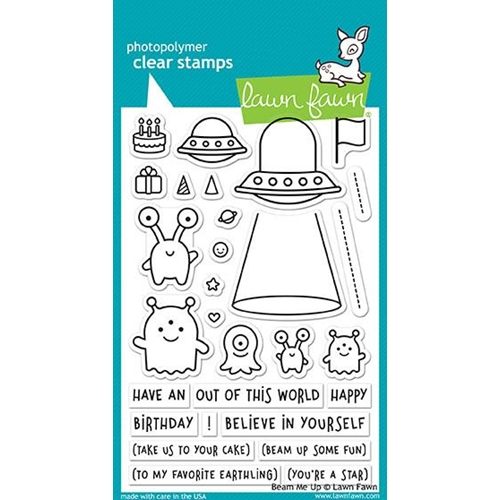 Lawn Fawn BEAM ME UP Clear Stamps LF1597 Preview Image
