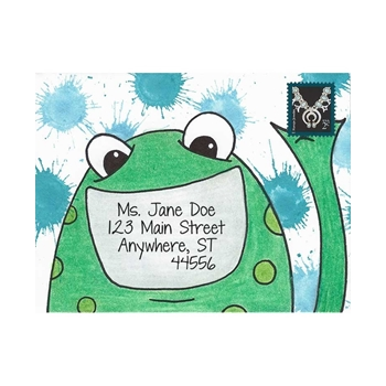 Inky Antics FRIENDLY FROG Cling Stamp Set Mail Pals icl3-102