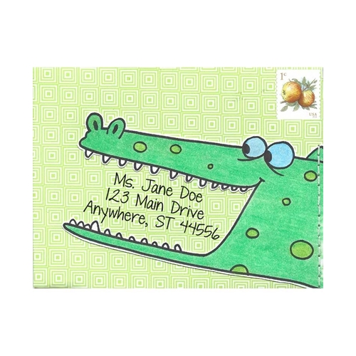 Inky Antics AMUSED ALLIGATOR Cling Stamp Set Mail Pals icl3-100 Preview Image